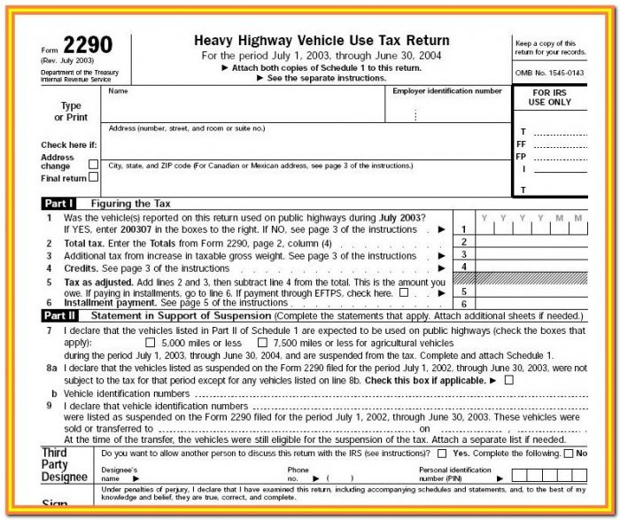 Form 2290 Irs.gov