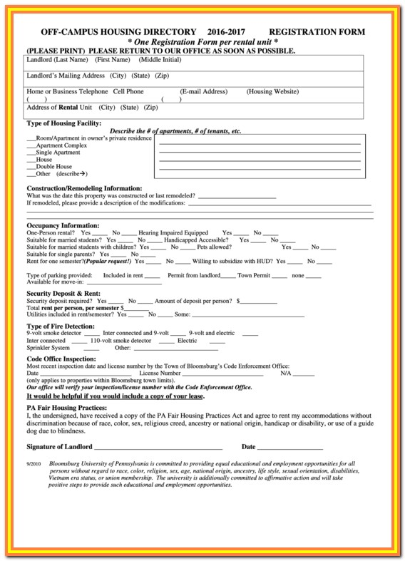 Hud Application Form Nc