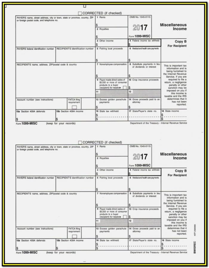 Irs Fillable Forms 1099 Misc