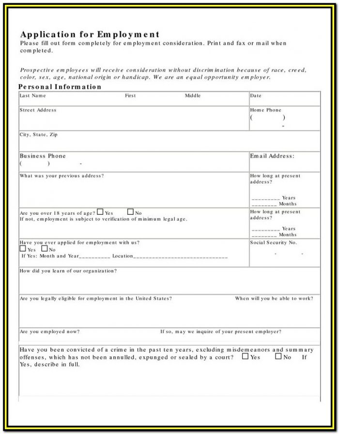 Kfc Canada Job Application Form