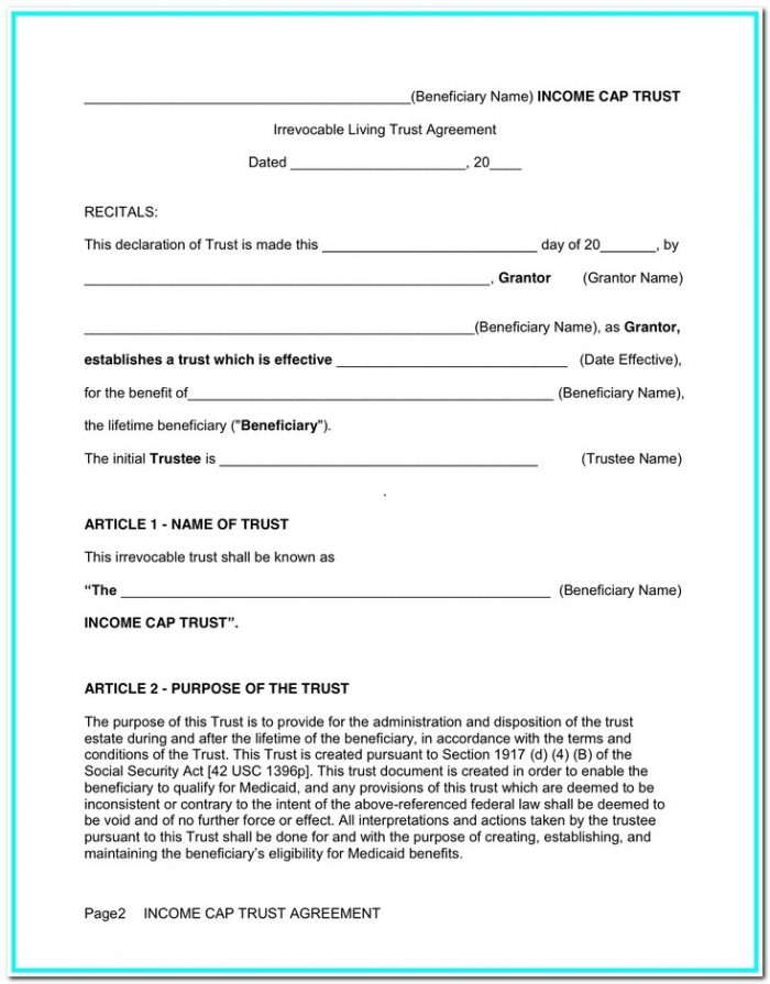 Living Trust Forms California Free Download
