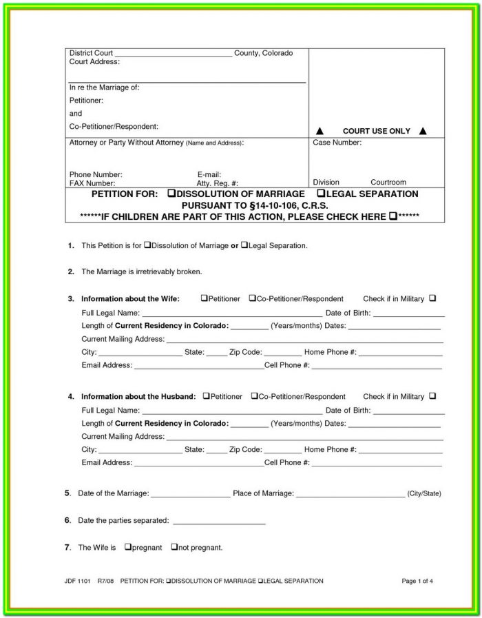 Md Divorce Forms Pdf