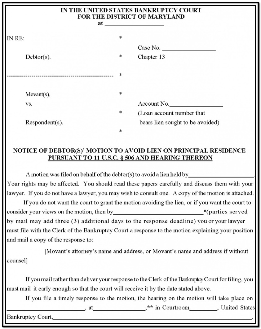 Nj Bankruptcy Forms Chapter 7