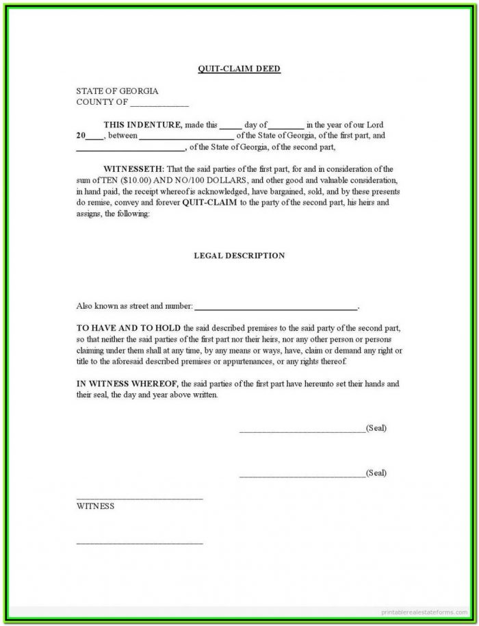 Quit Claim Deed Form Texas Tarrant County