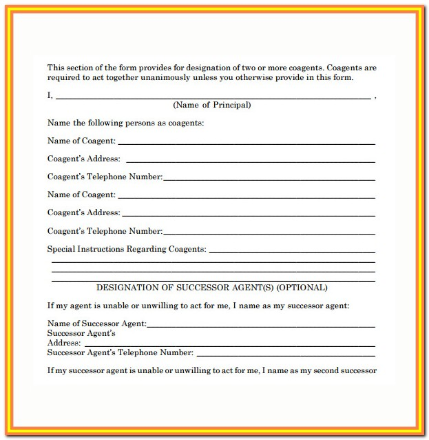 Simple Power Of Attorney Form Maine