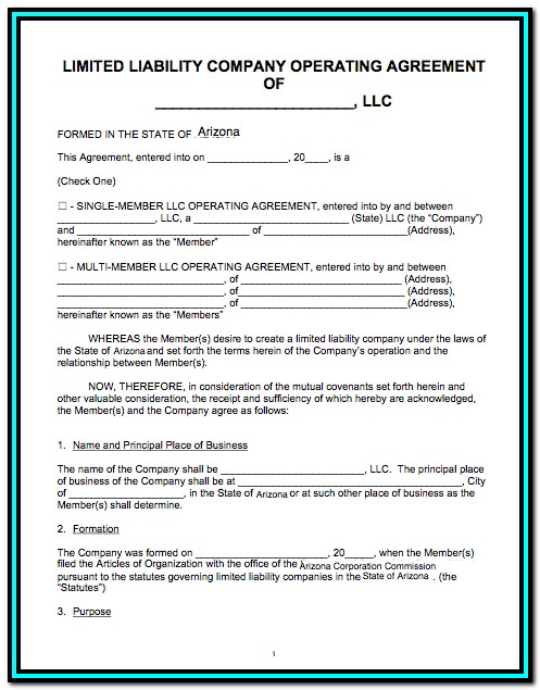 State Of Arizona Llc Forms
