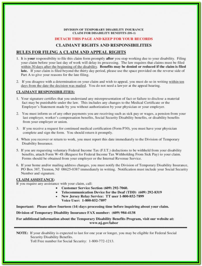 Temporary Disability Forms Ri