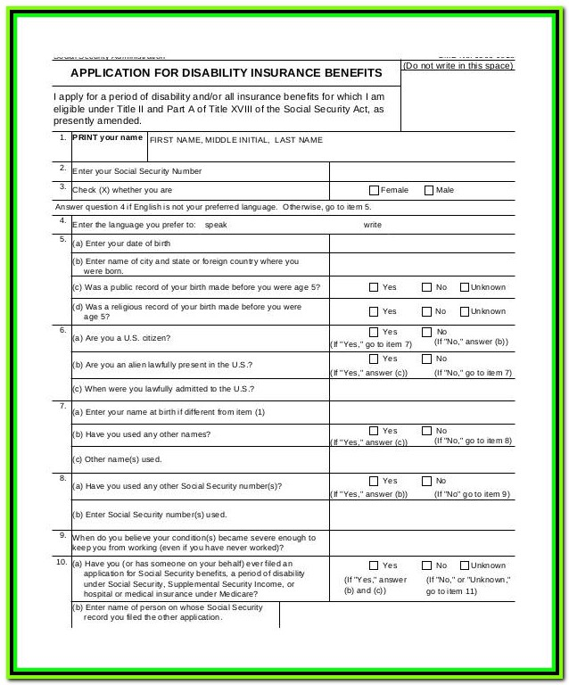 Temporary Disability Insurance Forms