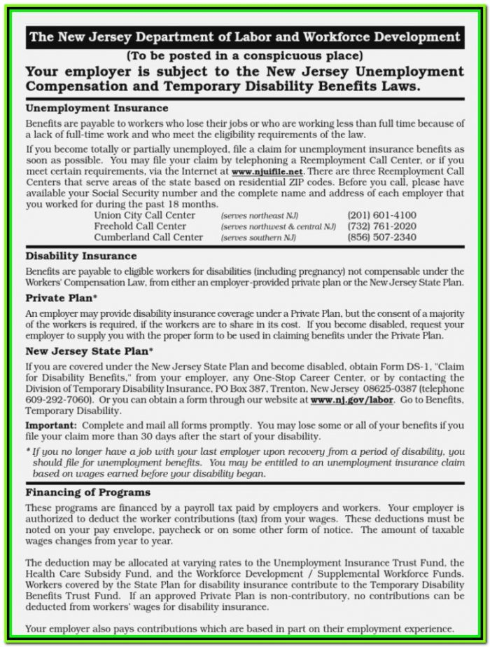 Temporary State Disability Forms