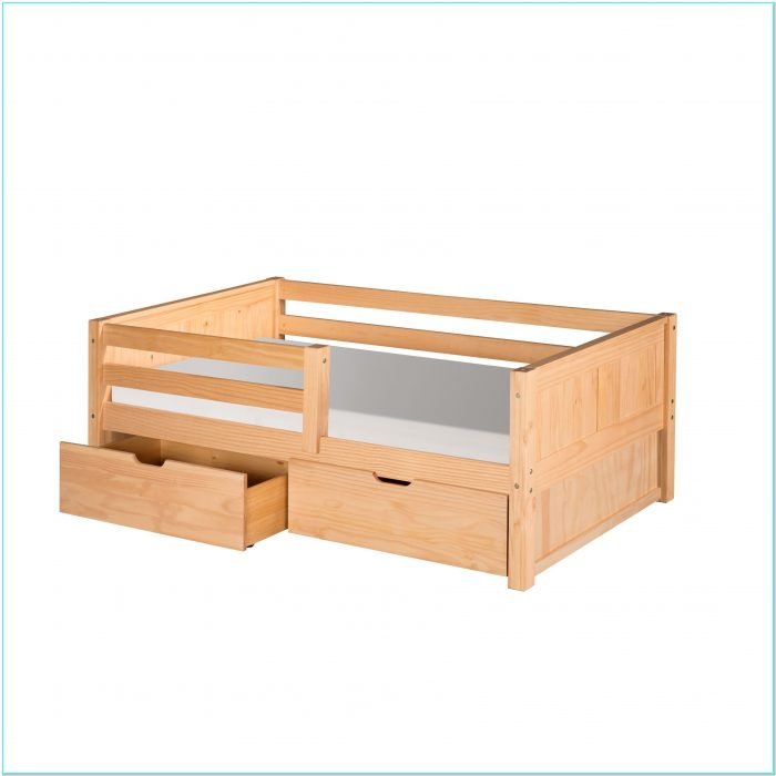 Toddler Bed With Rails And Storage
