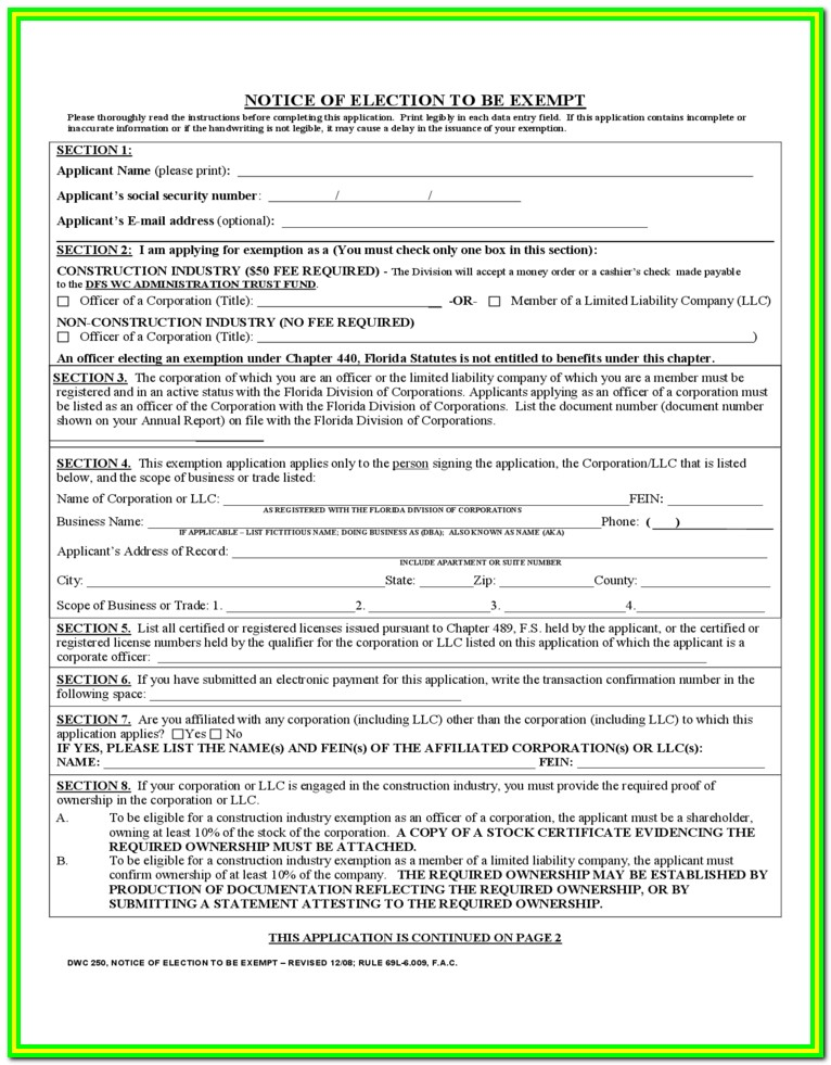 Workmans Comp Forms Nevada
