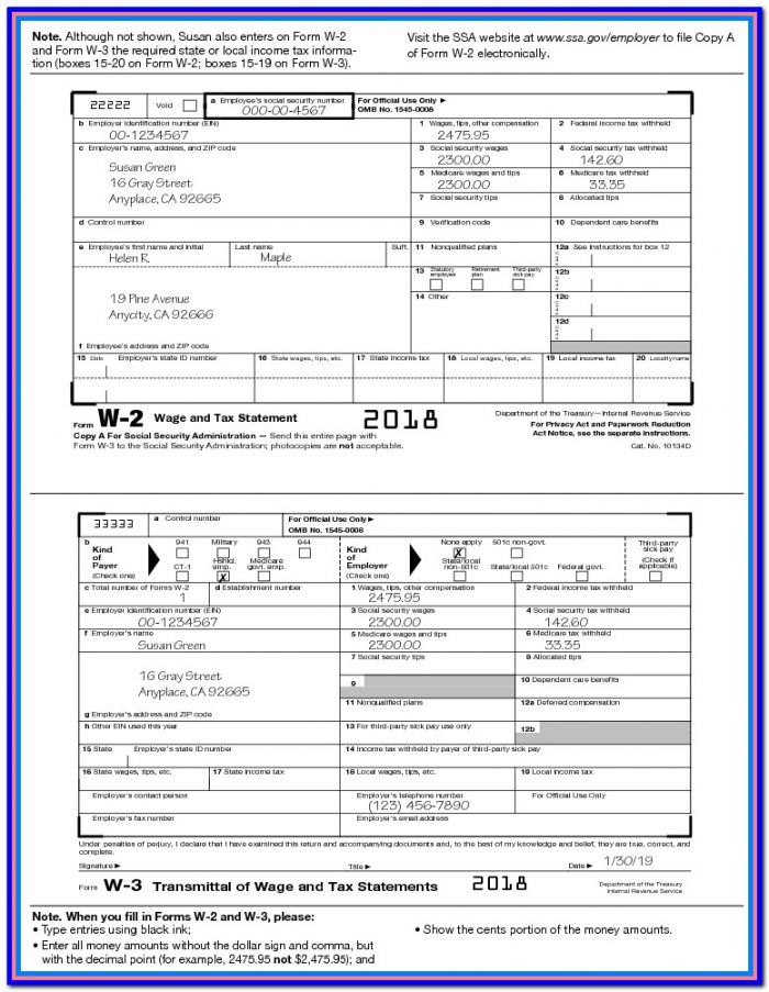 California Tax W2 Form