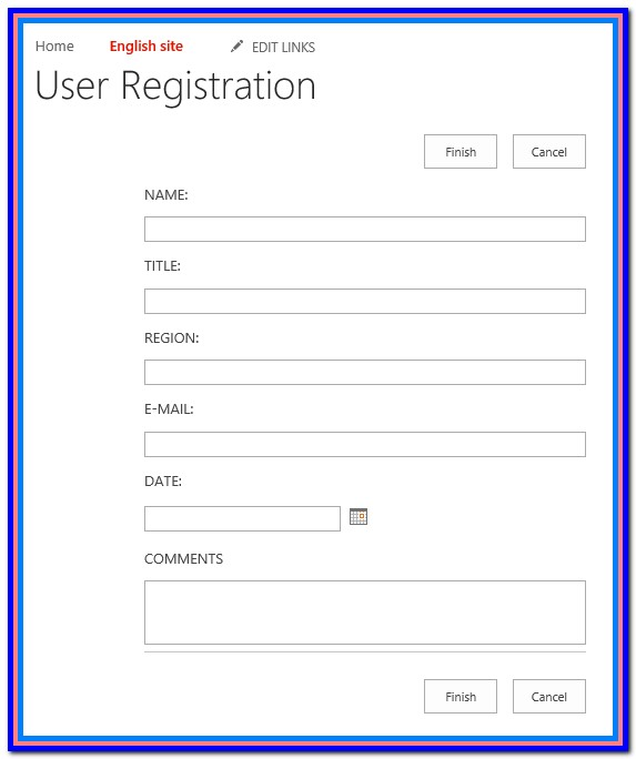 Create Fillable Form Sharepoint 2016