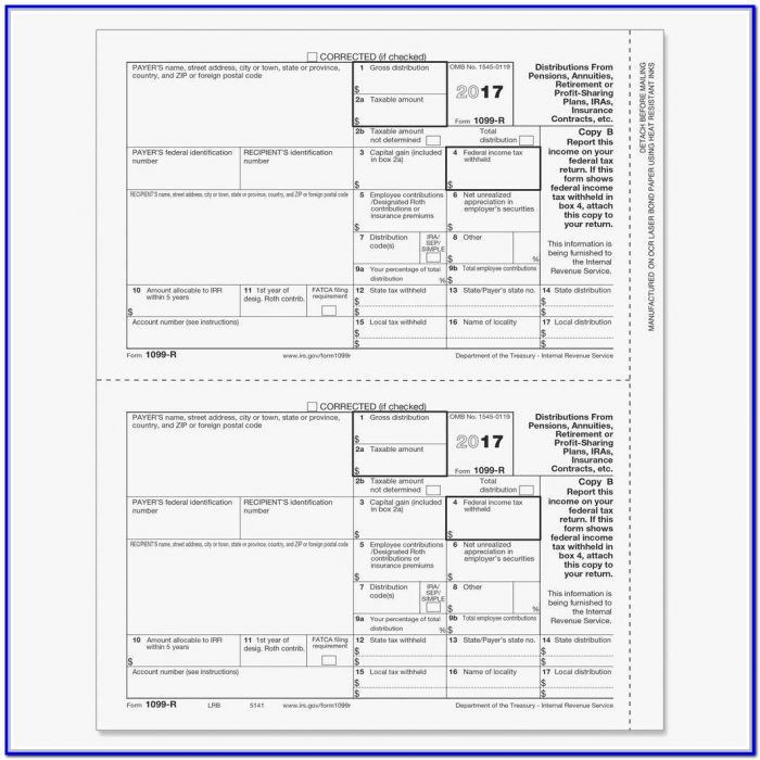 Free 1099 Misc Form 2018 Template