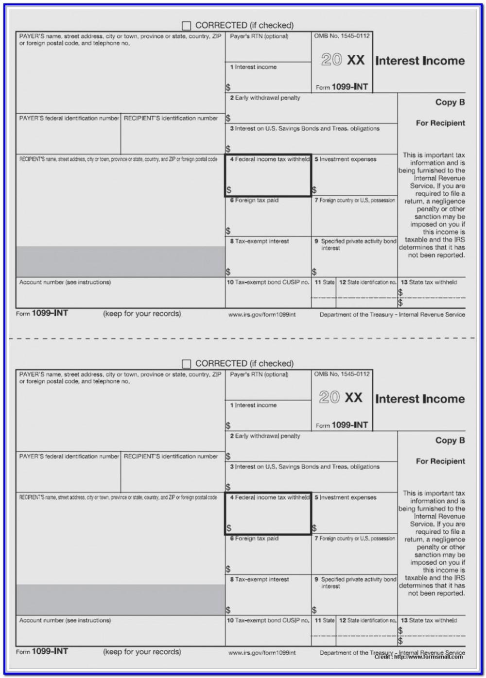 Free 1099 Misc Form Template