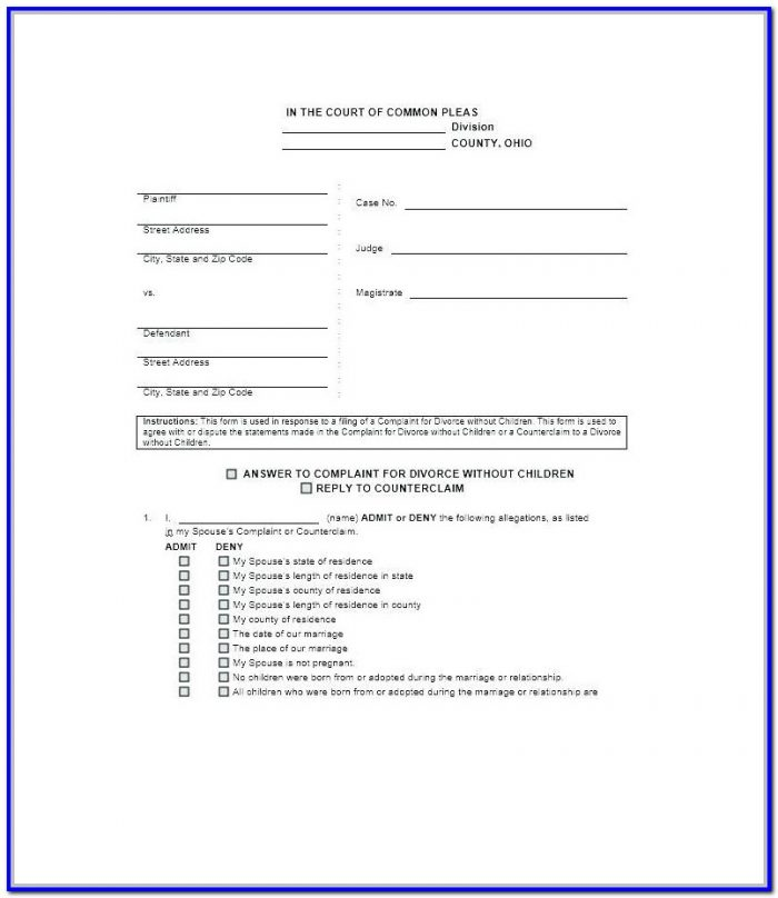 Fulton County Ga Divorce Forms