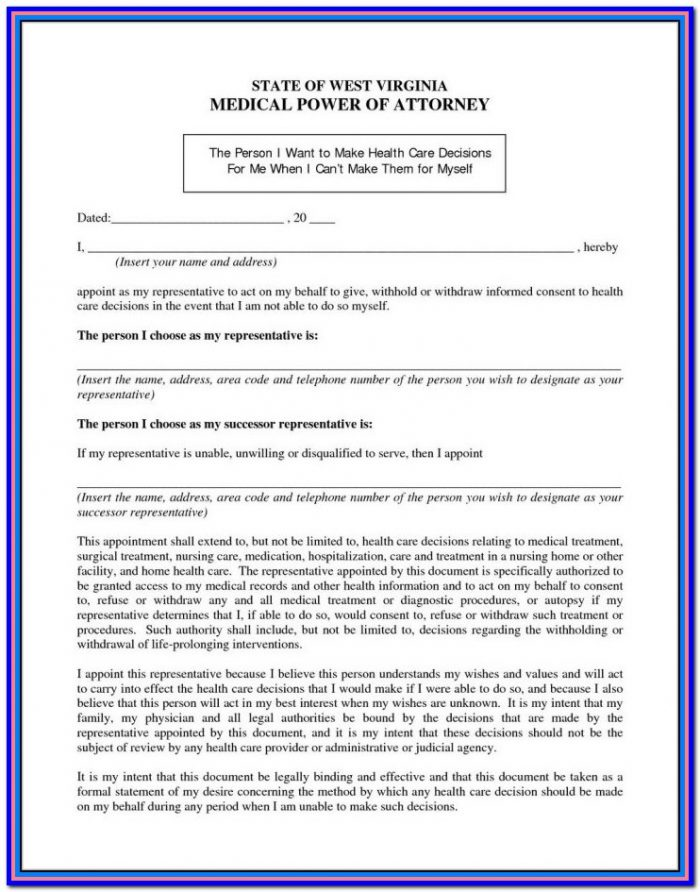 Nc General Durable Power Of Attorney Form