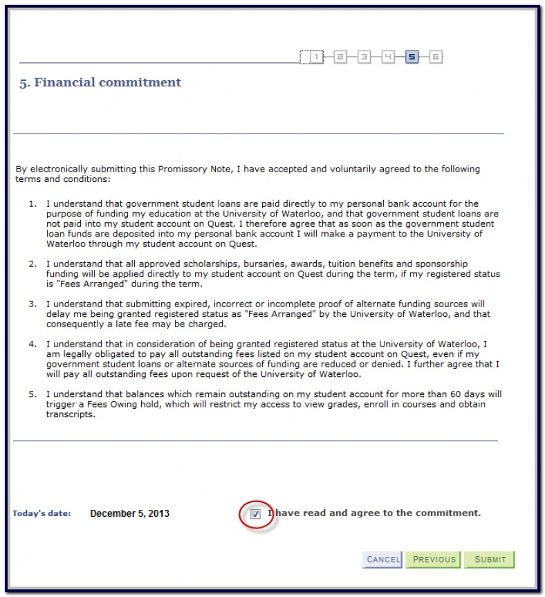Promissory Note Sample For School Tuition Fee