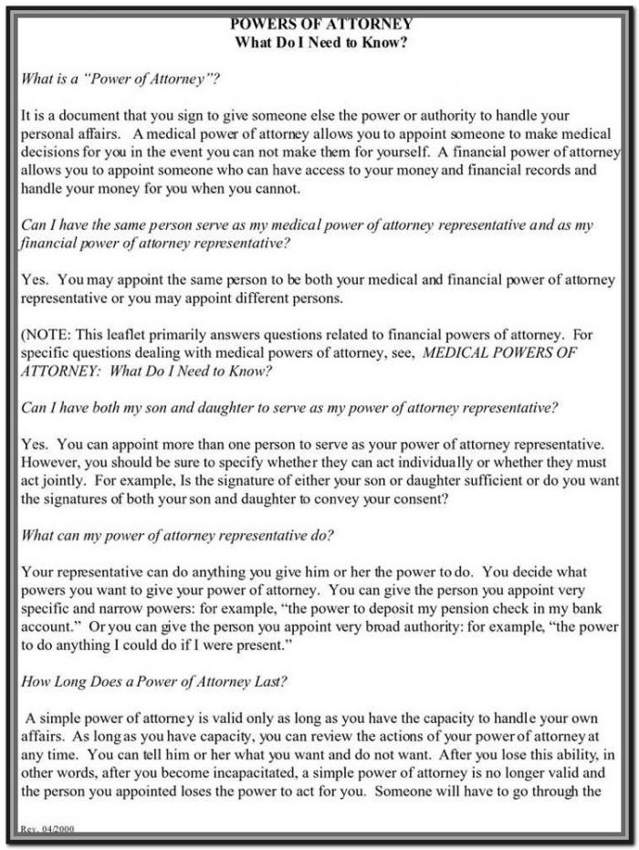 Wv Statutory Power Of Attorney Form
