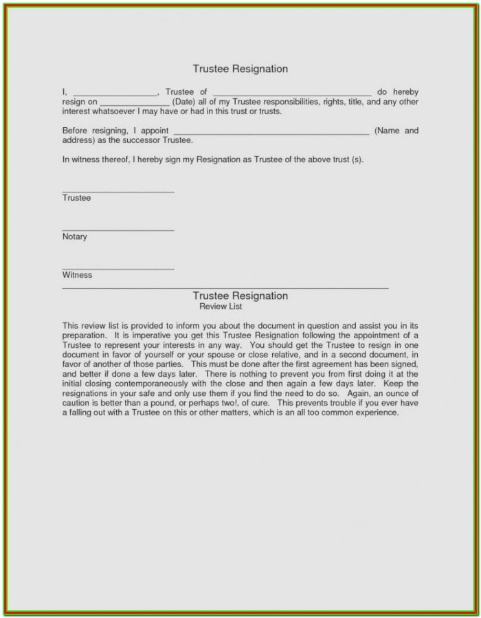 Affidavit Successor Trustee Form California