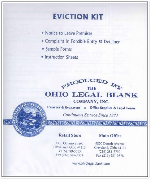 Cleveland Ohio Eviction Forms