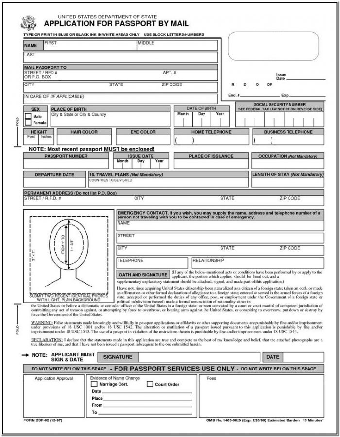 Ds 82 Form To Print