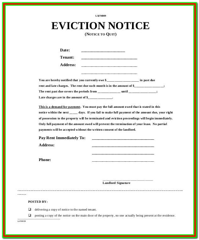 Forms For Eviction In Texas