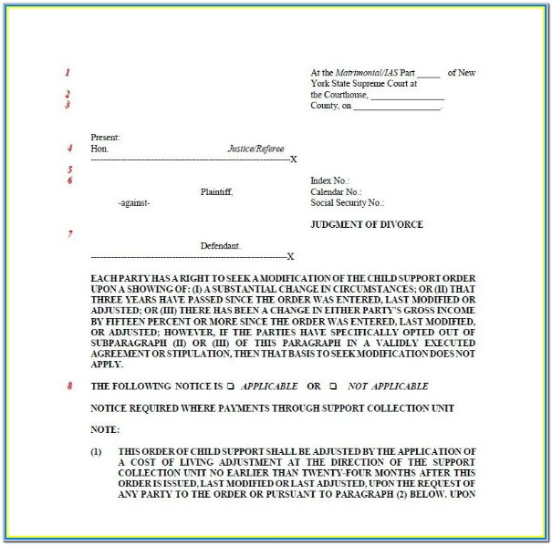 New York Uncontested Divorce Forms