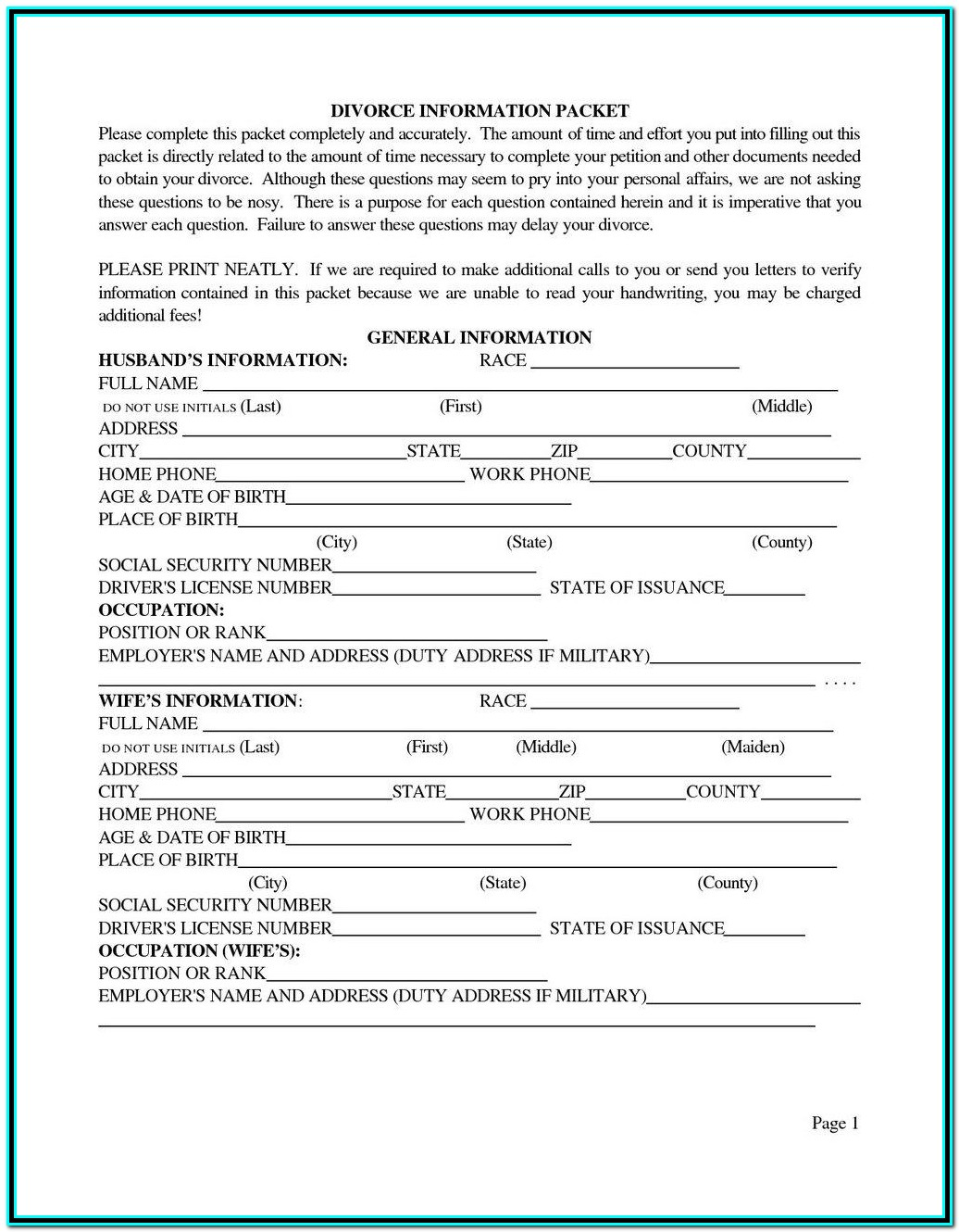Ny State Uncontested Divorce Forms