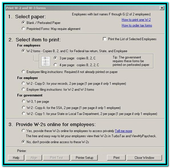 Print W2 Forms For Employees Quickbooks