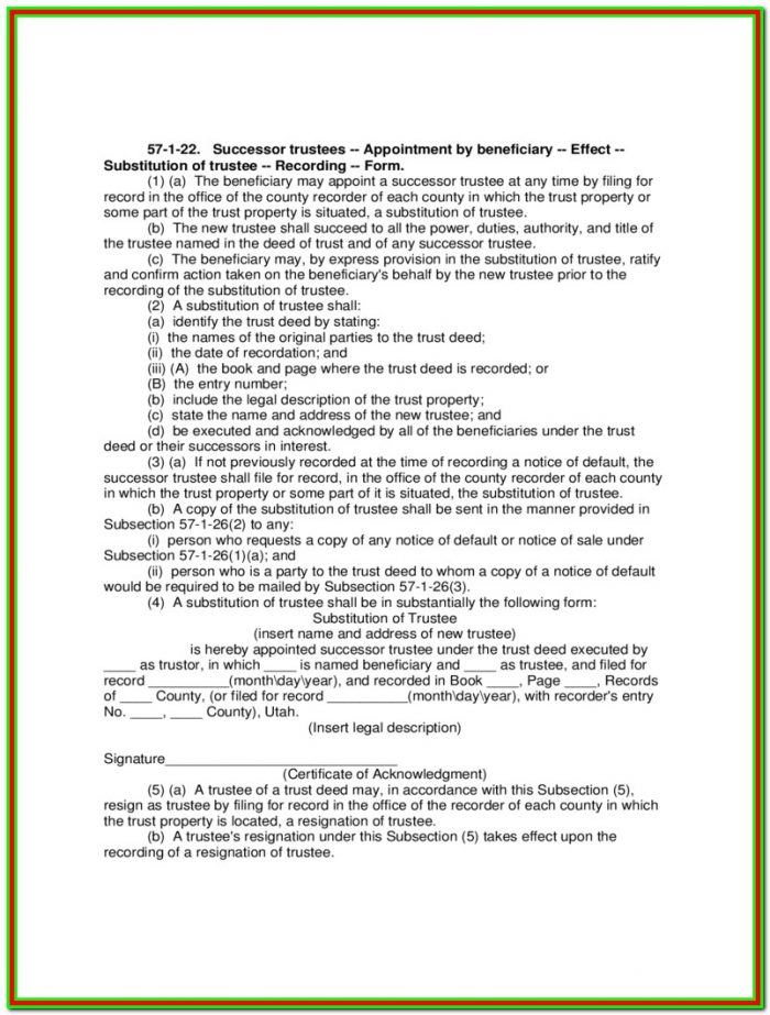 Successor Trustee Appointment Form