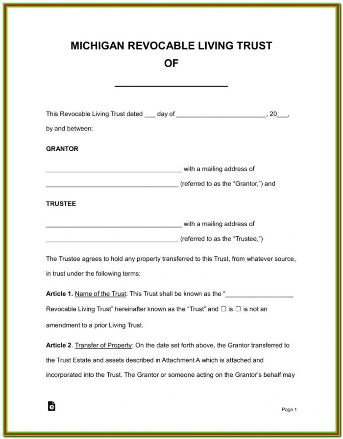 Successor Trustee Resignation Form