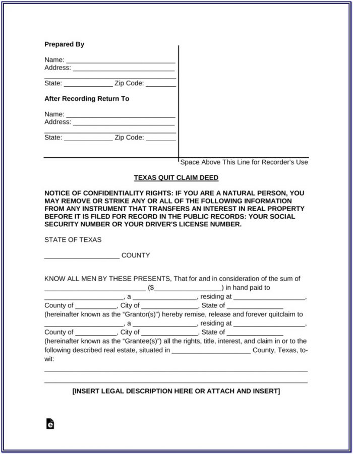 Clark County Washington Quit Claim Deed Form