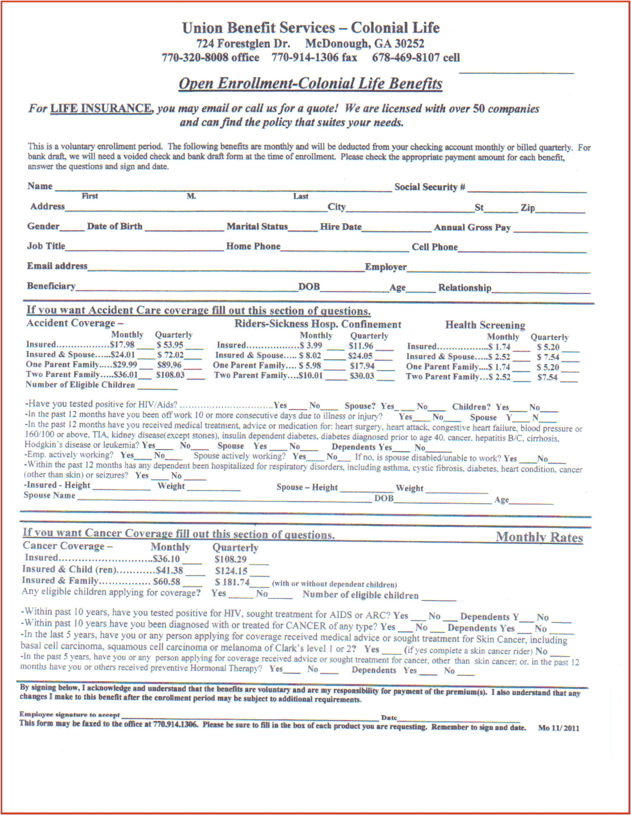 Colonial Life Insurance Disability Forms