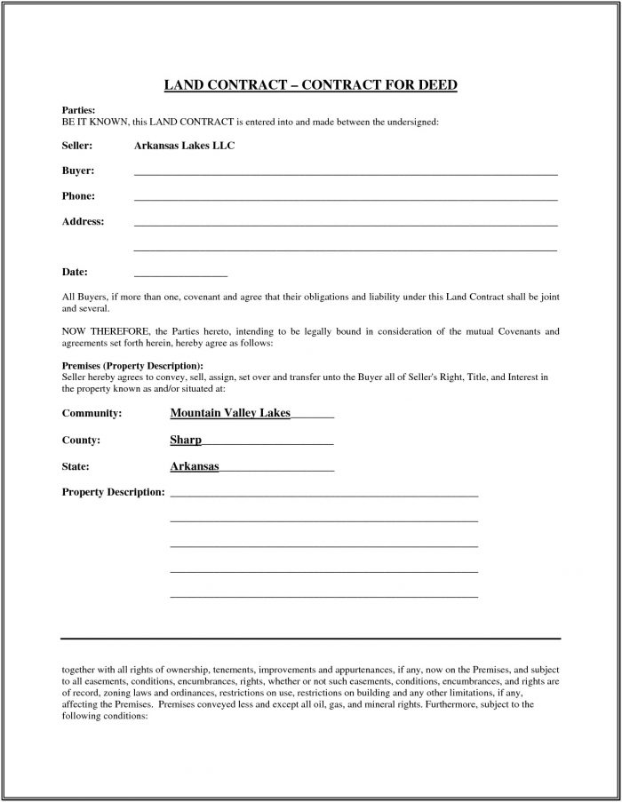 Free Printable Land Contract Forms | Shareitdownloadpc With Free Printable Land Contract Forms