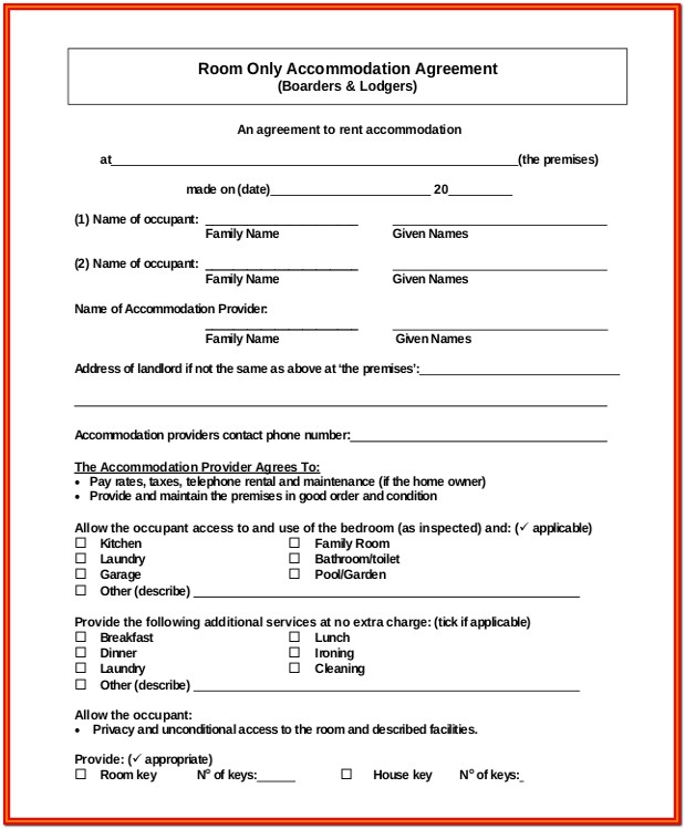 Free Simple Residential Lease Form