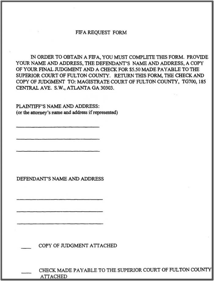 Fulton County Ga Probate Court Forms