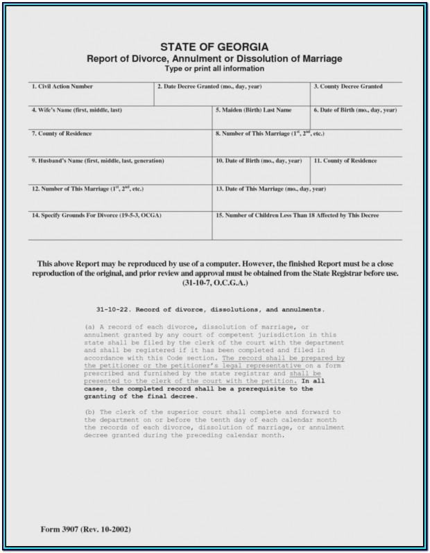 Fulton County Georgia Uncontested Divorce Forms