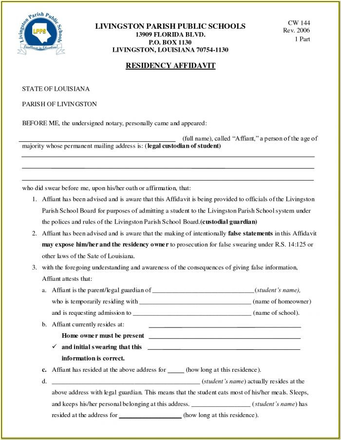 Guardianship Forms Florida Minor