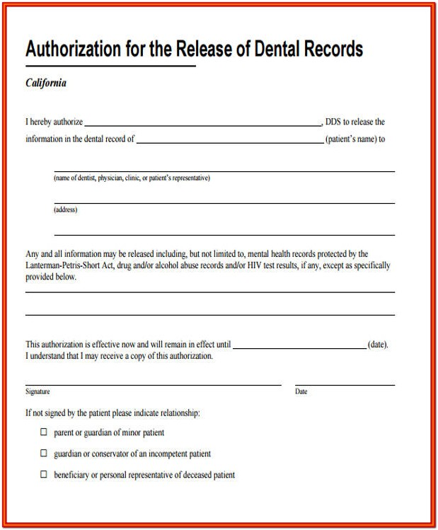 Hipaa Form For Patients 2017