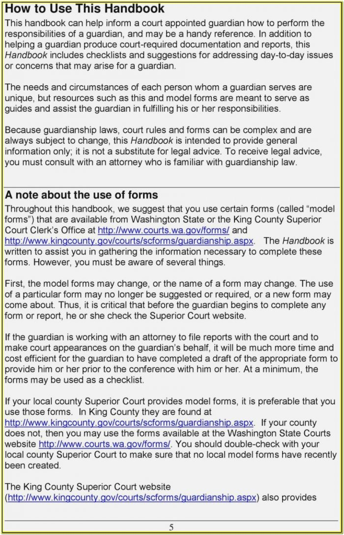 King County Court Forms Dissolution