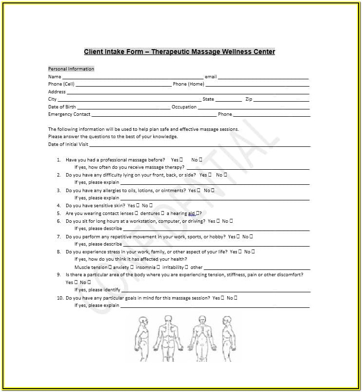 Personal Injury Client Intake Form