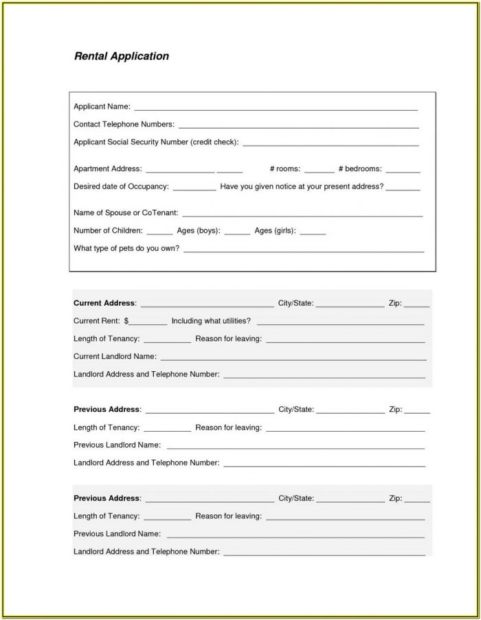 Tenant Background Check Application Form