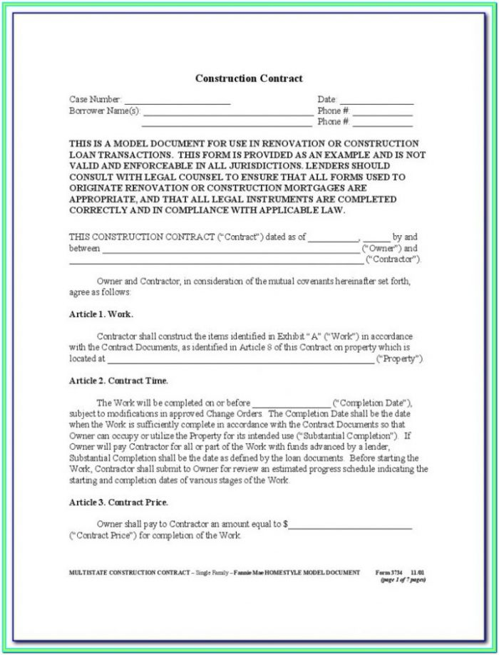 1099 Form For Contractors To Fill Out