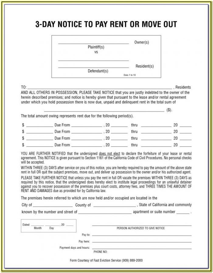 60 Day Eviction Notice Form