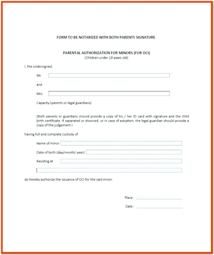 Birth Certificate Notary Format
