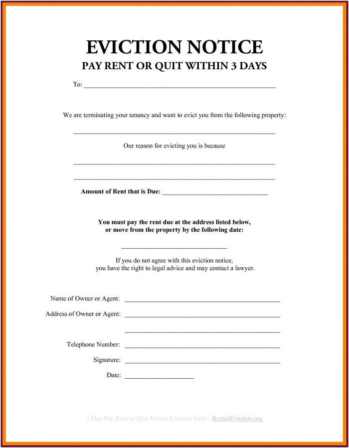 California Eviction Forms