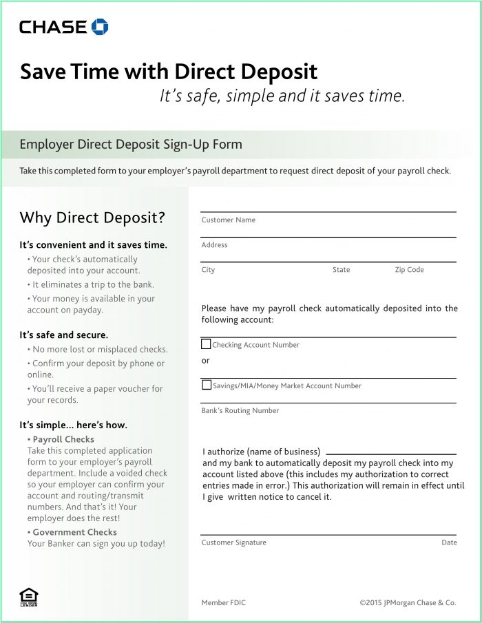 Chase Bank Loan Application Form