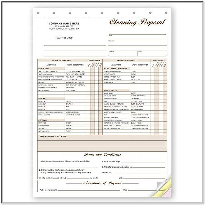 Cleaning Proposal Forms