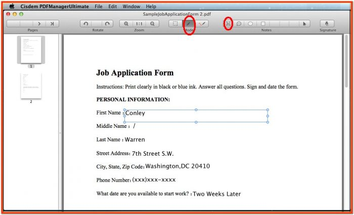Create A Fillable Pdf Form Free On Mac
